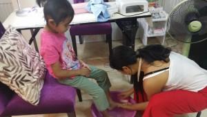 Manicure and pedicure for Dini